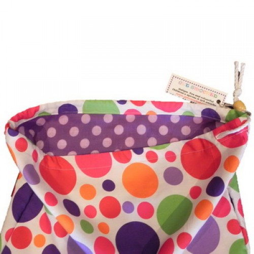 Library Bag - Colourful Dots