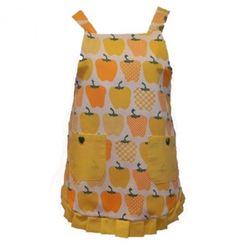 Vintage Style Apron - Yellow Capsicums