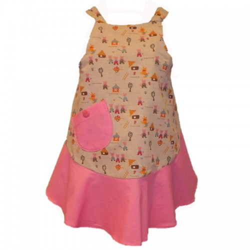 Vintage Style Apron - Three Little Pigs